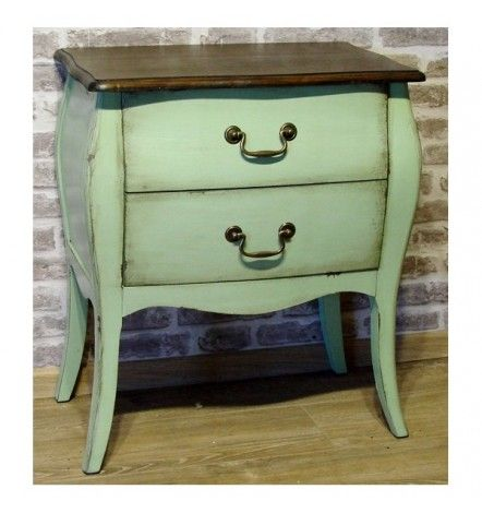 MELLOW commode, 2 tiroirs, olive