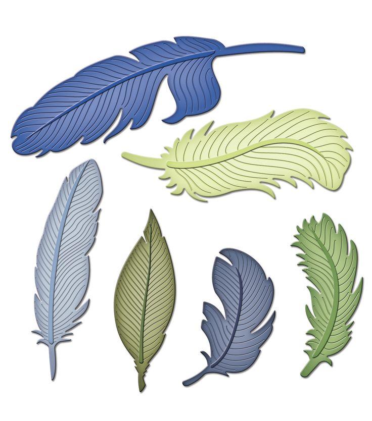 Spellbinders Shapeabilities Dies-FeathersSpellbinders Shapeabilities Dies-Feathers,