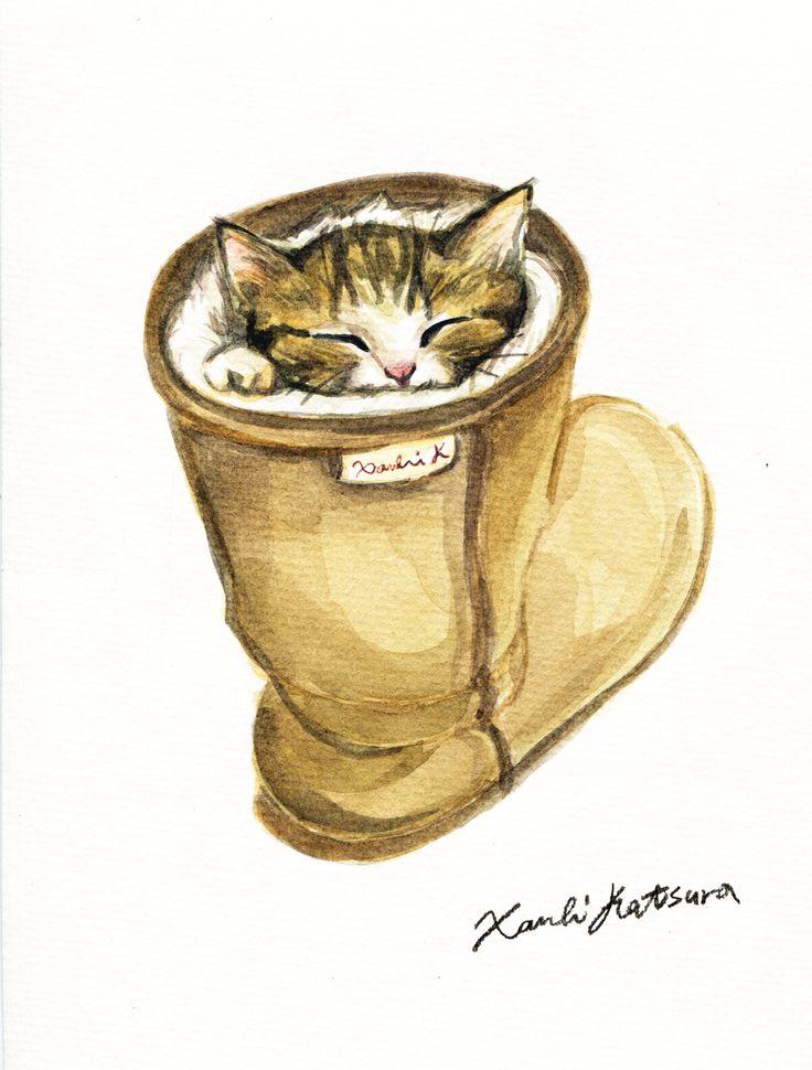 Cat in the boots Xanbi Katsura illustration