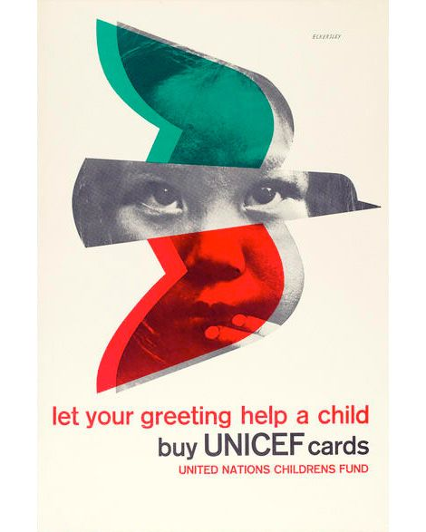Tom Eckersley, UNICEF [United Nations Children's Fund] appeal poster (1977)