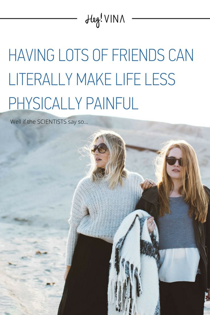 So, a new study has found that friendship can be a more powerful painkiller than morphine! Katerina Johnson, a doctoral student from Oxford University, in the psychiatry and experimental psychology area, found that people with more social connections had a higher pain tolerance.