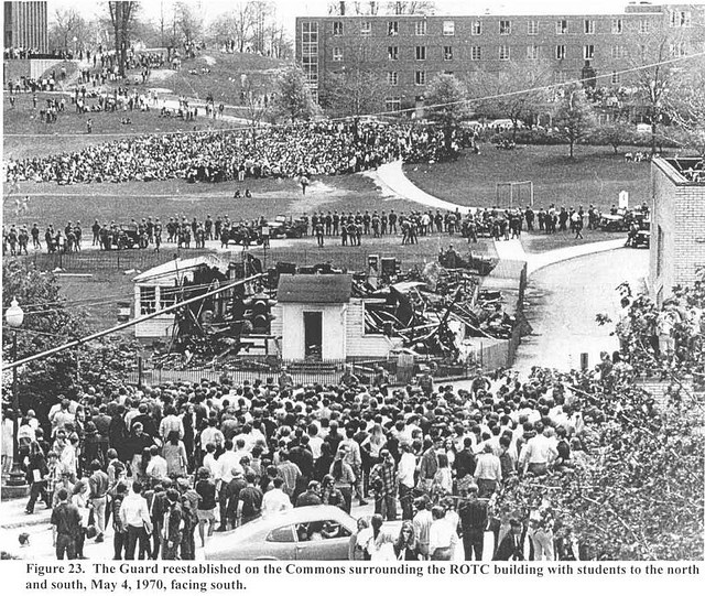 Kent State Shootings Site May 4,1970, I met a father of  a Kent State student who attended school when this happened