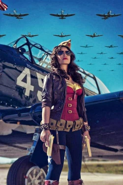 Wonder Woman retro. Is it sad I can see this with a few minor tweaks as being a completely wearable outfit?