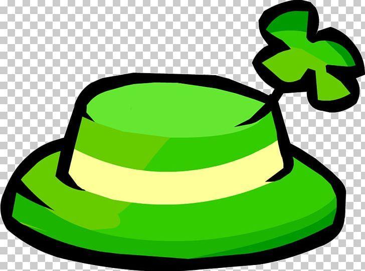 Club Penguin Ireland Shamrock Hat Saint Patricks Day Png Artwork Clothing Clover Club Penguin Free Content St Patricks Day Club Penguin St Patrick