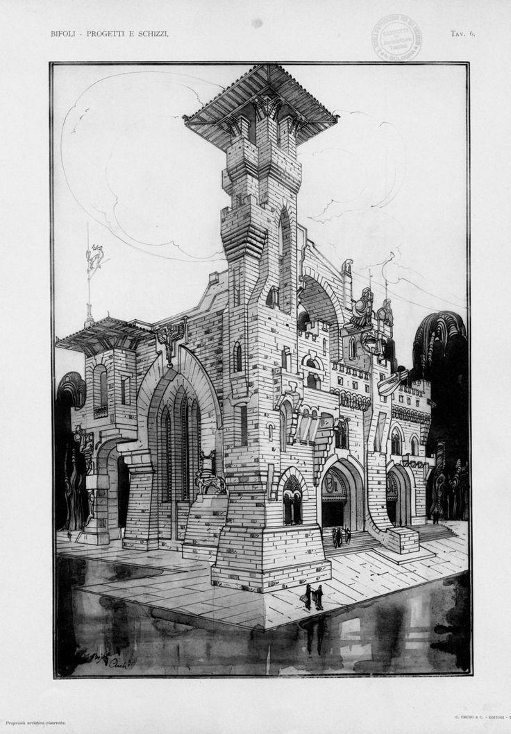 Progetti e schizzi architettonici e decorativi | Bifoli, Enzo