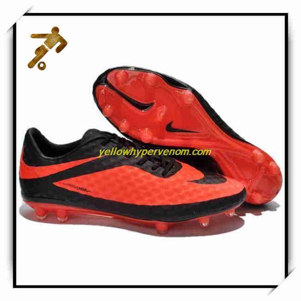 New Nike Hypervenom Phantom FG Black Citrus Breast Cancer Football Cleats