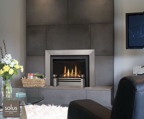 71 best images about fireplaces on pinterest concrete fireplace tvs and decor - Contemporary fireplace insert for a warm living room ...