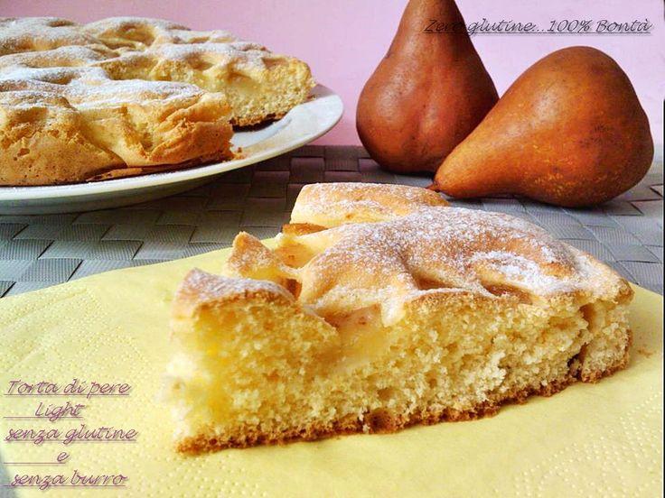 Torta con le pere (senza glutine e burro)