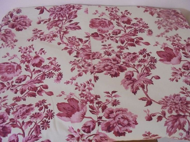 Pottery Barn Queen Size Duvet Cover Red Cream Floral Cottage Style #PotteryBarn #Cottage