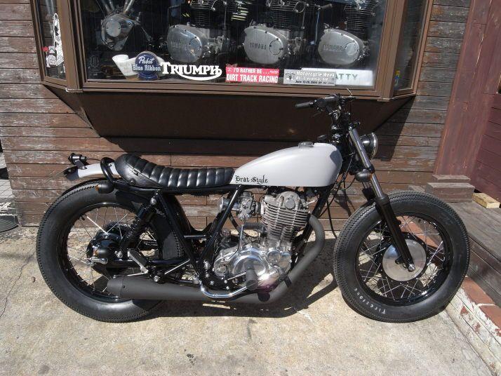 Brat Style custom motorcycle