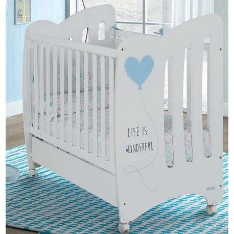 Estructura para cuna de bebe WONDERFUL de Micuna con corazón azul
