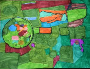 abstract art for kids!