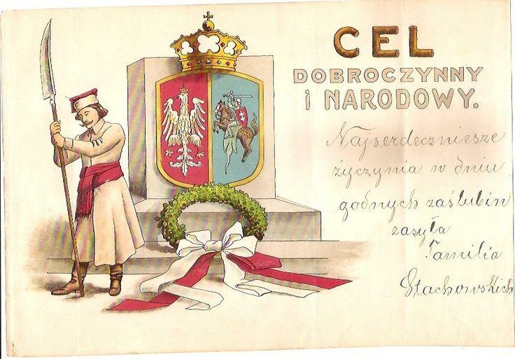 TELEGRAM PATRIOTYCZNY LITO  KOSYNIER HERB ORZEŁ