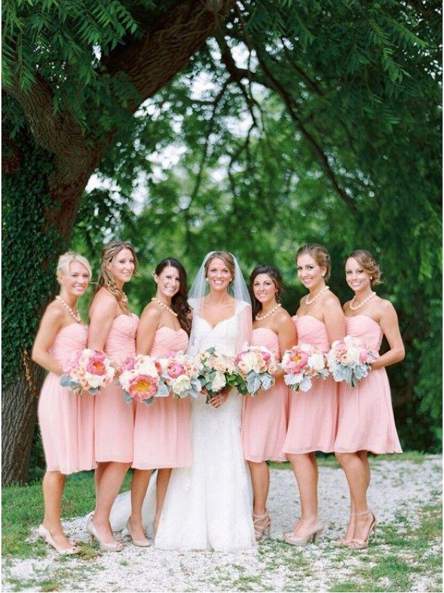 Short Pink Chiffon Country Bridesmaid Dresses 99601017