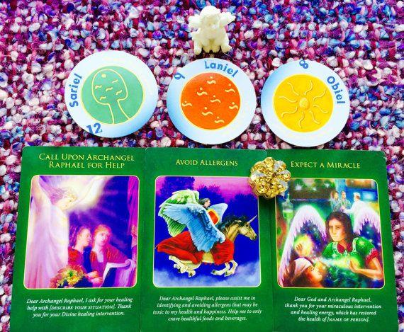 Angel and Pendulum Reading  Six Cards  Three by AngelsandTarot