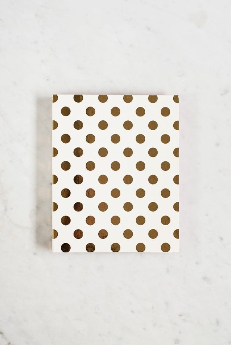 Kate Spade - Spiral Notebook - Ruled - 17x21cm - Hard Cover - Gold Dots