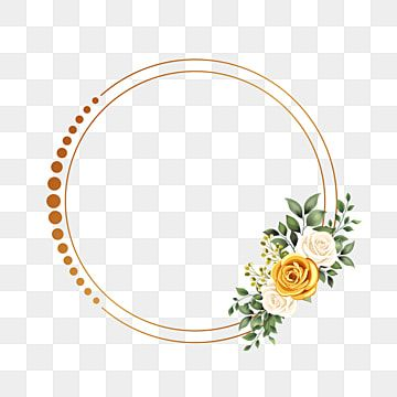 Circle Frame With Gold Flower Design Wedding Wedding Invitation Gold Png Transparent Clipart Image And Psd File For Free Download Circle Frames Watercolor Flowers Pattern Flower Frame
