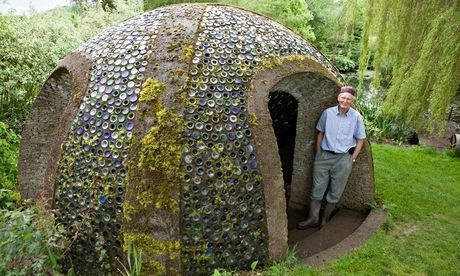 Richard Pim, from Pembridge, a finalist in the eco category of the 2014 Shed of the Year competition with his Bottle Dome shed. Photograph: ...