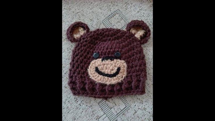 TUTORIAL-Newborn baby bear beannie-Facem caciulita ursulet nou nascut