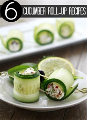 6 Cucumber Roll-Up Recipes: These things are adorable, easy, and generally pretty darn healthy.