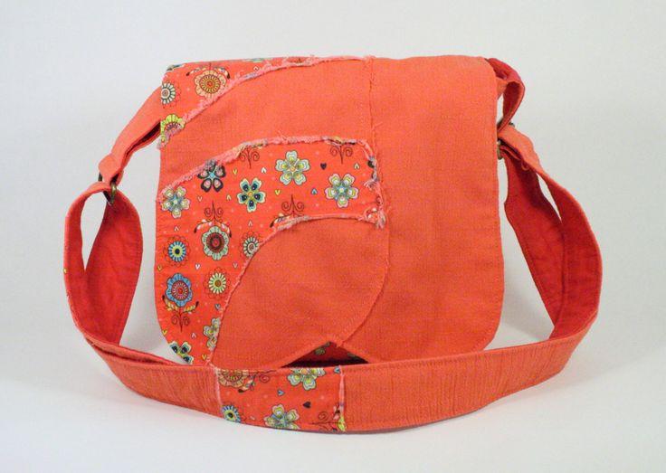 Sac messager pour fillette Sacoche  bohème avec motifs de fleurs coloré Sac à bandoulière de la boutique Mafelou sur Etsy