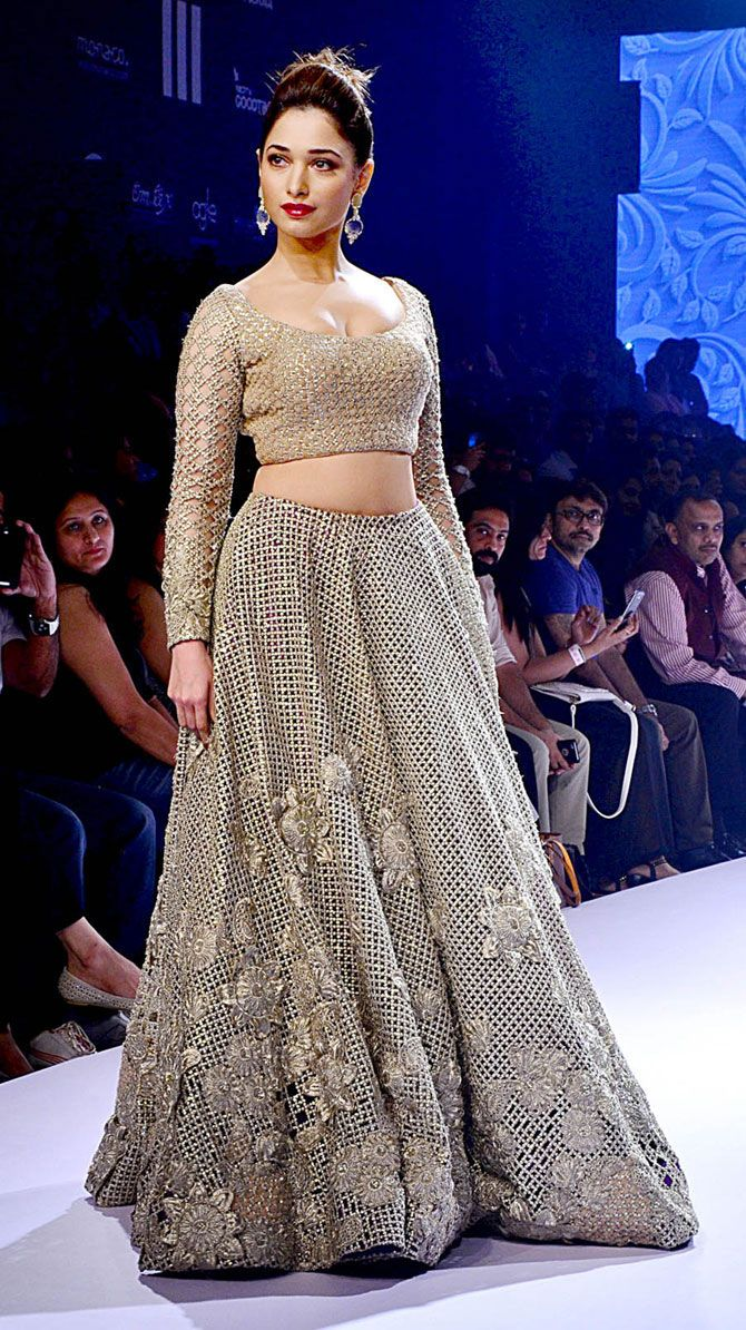 Tamannaah Bhatia at the grand finale of Lakme Fashion Week Winter/Festive 2015. #Bollywood #LFW2015 #Fashion #Style #Beauty #Hot #Sexy