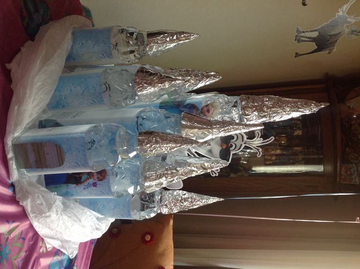 Elsa 39 s castle made out of iceland water 3 big bottles and for What can we make out of plastic bottles