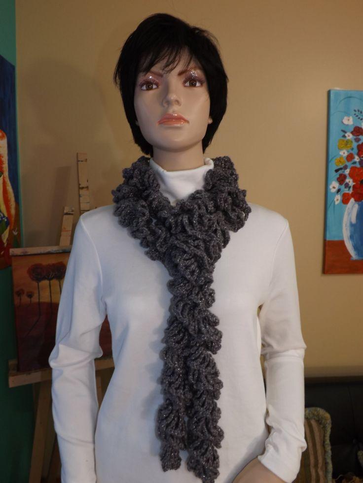 Crochet bufanda  de volante, fruncida o rizada - con Ruby Stedman