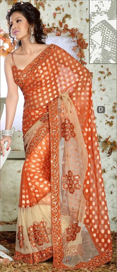 Designer Indian Brasso Sarees, Indian Brasso Saris