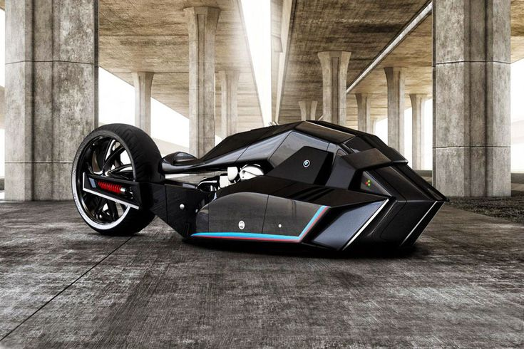 Straight Outta the Batcave: The BMW Titan Concept Motorcycle