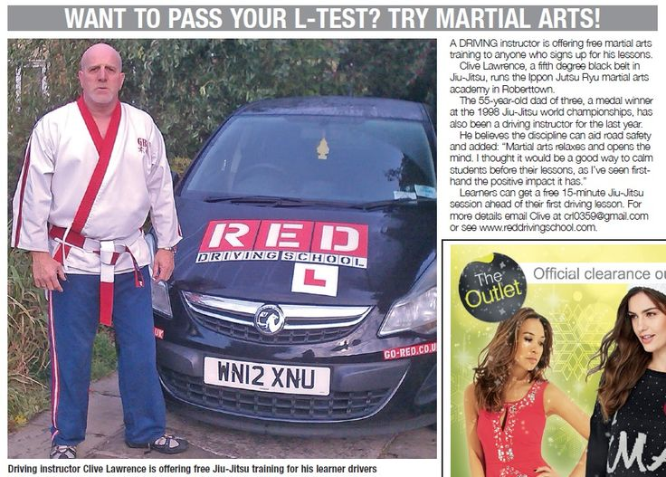 RED Driving instructor Clive Lawrence speaks to The Press newspaper about the calming benefits of ju-jitsu when learning to drive