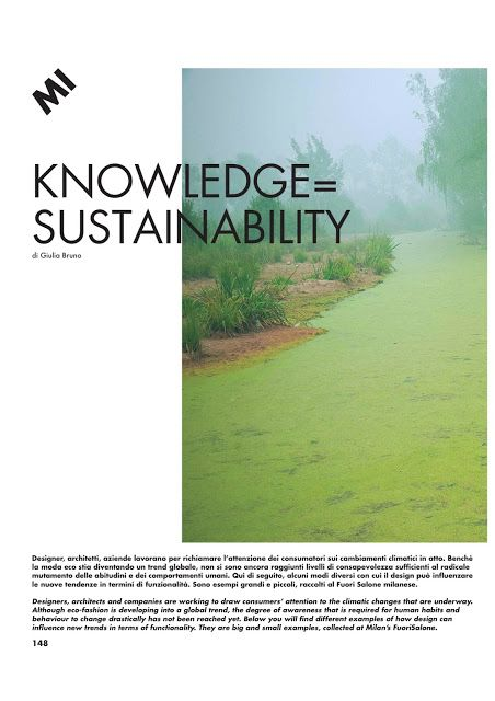 GIULIA BERRA: OUR KNOWLEDGE= OUR SUSTAINABILITY