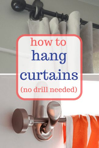 How to Install Curtains (No Drill Required