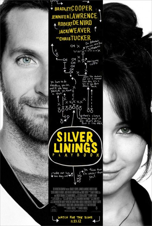 Silver Linings Playbook 11.21.12 starring Bradley Cooper and Jennifer Lawrence.