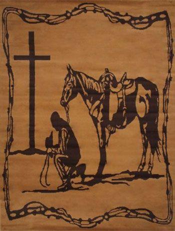 Tapis de cowboy priant occidental | ChickSaddlery.com   – Equestrian Home & Decor