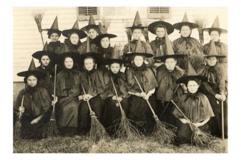 When decorating for the scariest holiday of them all, this giclee of School for Witches is a perfect!