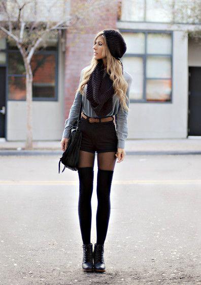 fallThigh High Socks, Long Legs, Outfit, Long Socks, Thigh Highs, Knee Socks, Knee Highs, Thighs High Socks, High Waist Short