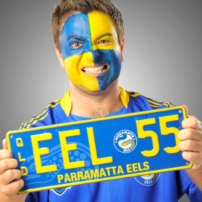 Passionate about the Eels? Support them with the #PPQ Parramatta Eels plate. #NRL