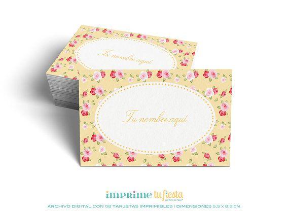 Lindas TARJETAS PERSONALES listas para imprimir y personalizadas para ti! por ImprimeTu Fiesta