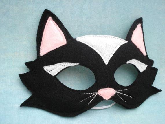 Felt Black Cat Mask