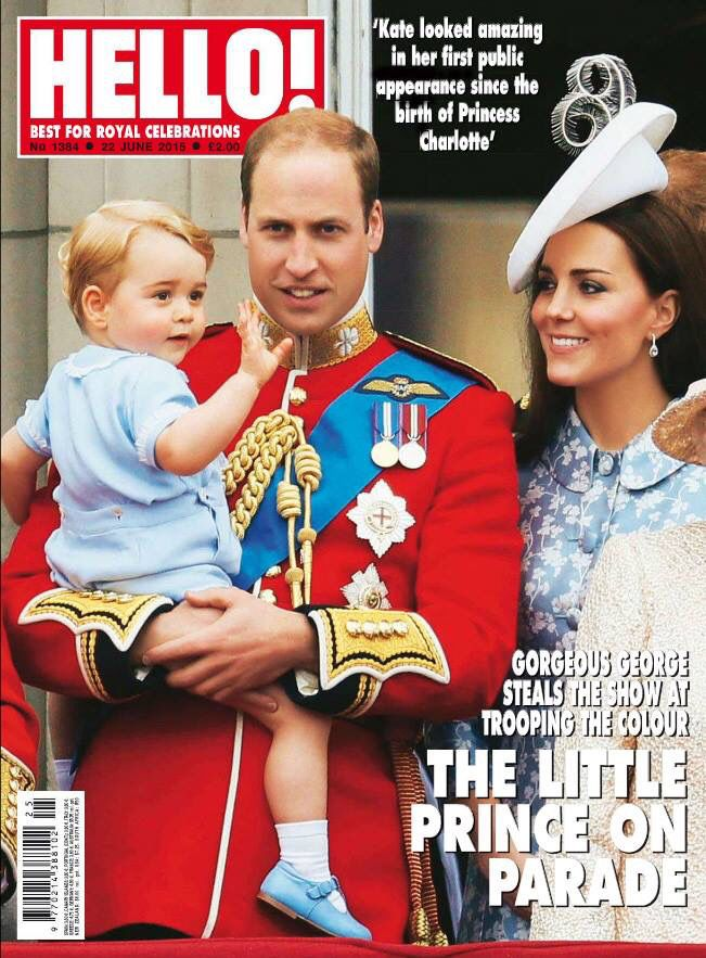 Hello! UK, June 2015, young Prince George with his royal parents