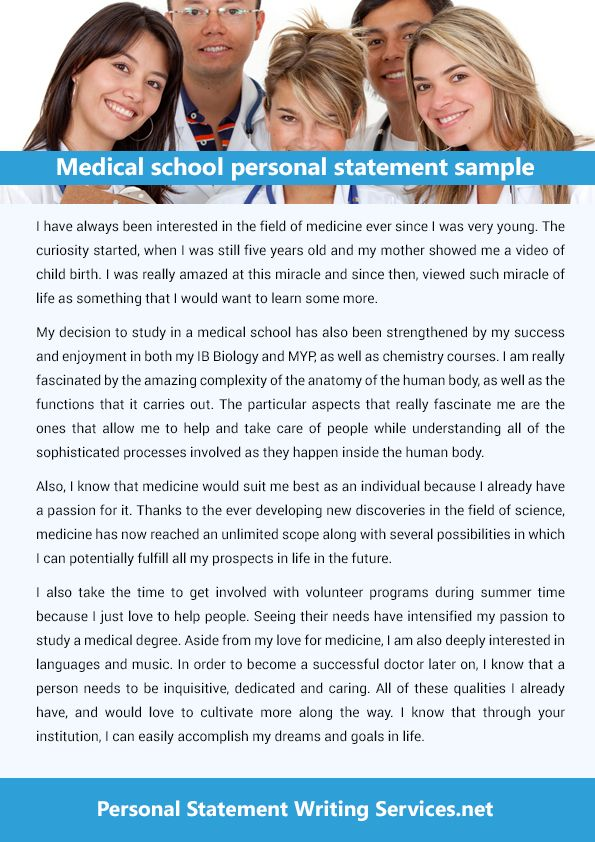 This is a great platform that provides the medical school personal - personal statement sample