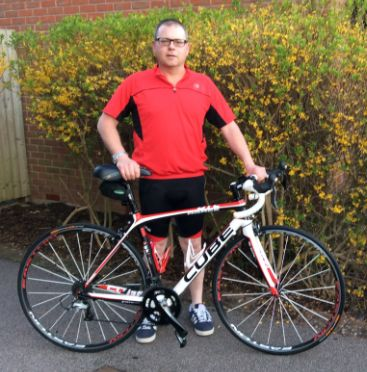 Paul Needle is gearing up to tackle a 100 mile London to Surrey cycle ride, to raise funds for Blind Veterans UK #BlindVeteransUK #cycling