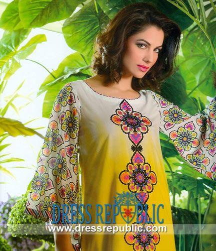Sana Samia Designer Cotton Collection 2014 By Lala   by www.dressrepublic.com