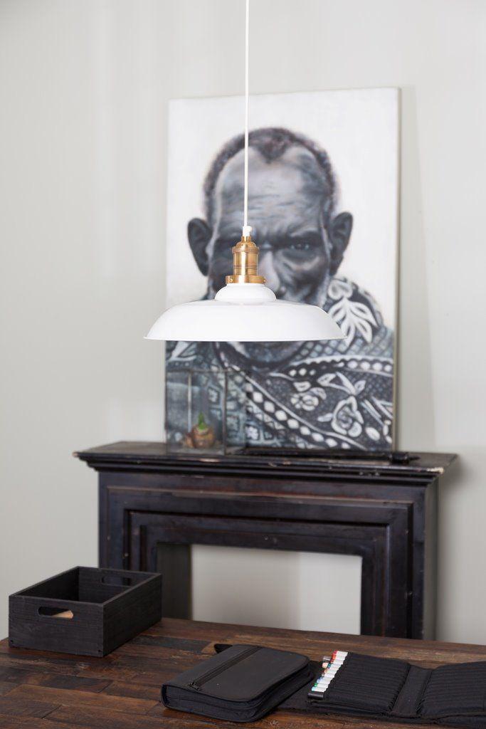 Dutchbone Lampa Wisząca Core Biała 5300069 : Lampy wiszące metalowe : Sklep internetowy Elektromag Lighting #vintage #lighting
