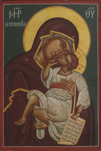 Virgin Glykophilousa icon, by the hand of Photios Kontoglou, 1955; Institute for Byzantine and Modern Greek Studies, Belmont, MA