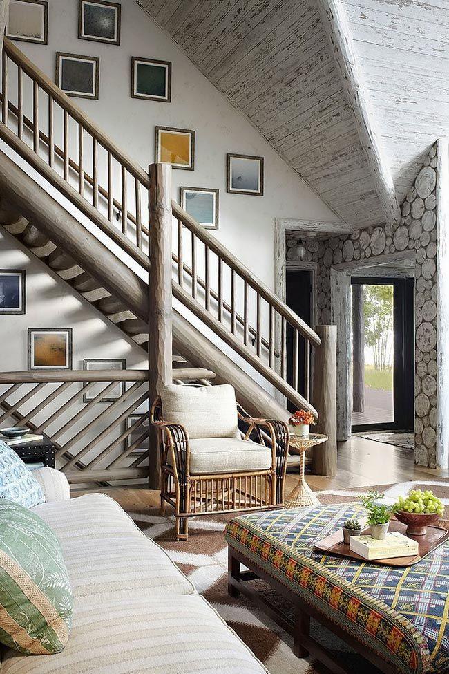 Красивый бревенчатый дом фото