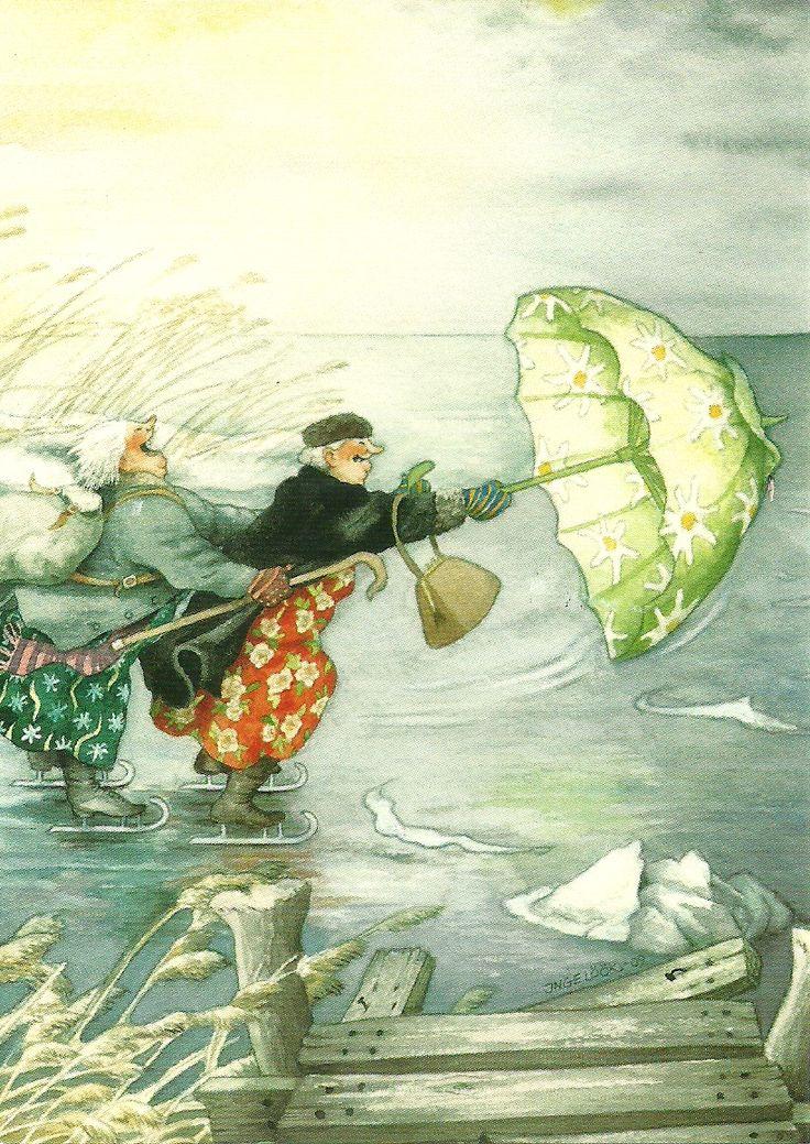 :-): Inge Blow, Illustration, Artist, Friend, Art Inge, Old Ladies
