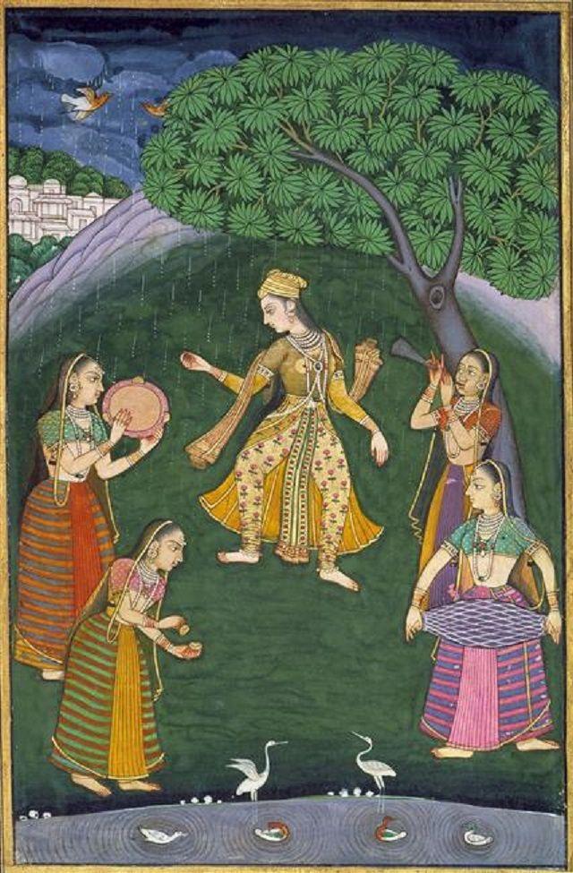 La danse de la pluie - Mega Raga. Vers 1765. Area of origin not noted.