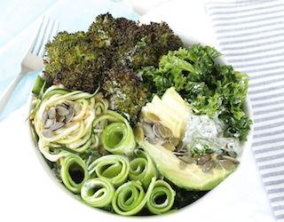 Green Abundance Bowl w Tahini Dressing